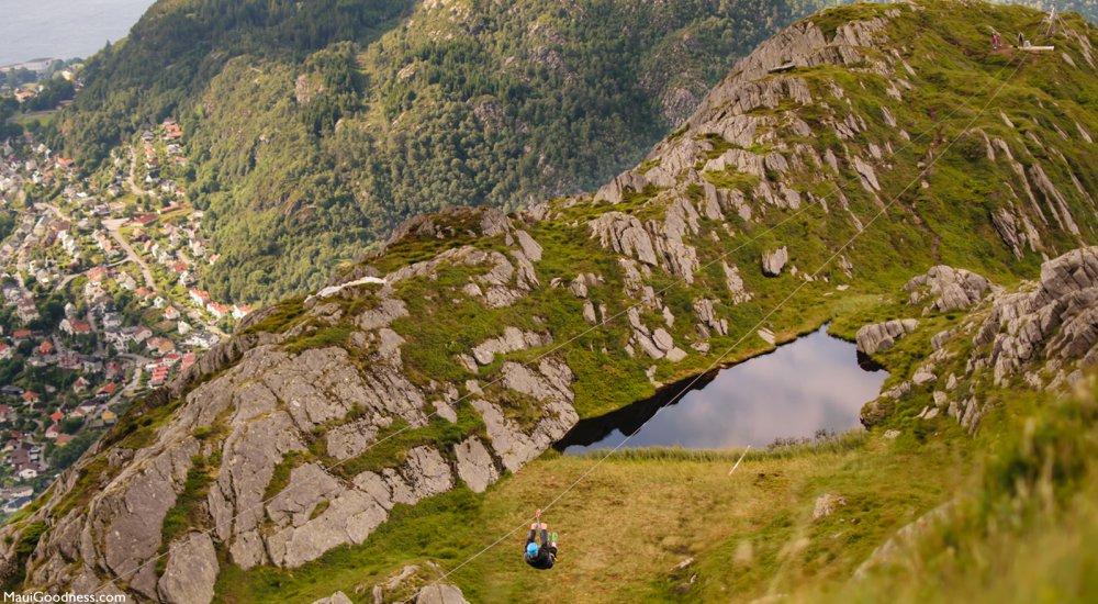 mountain zipline